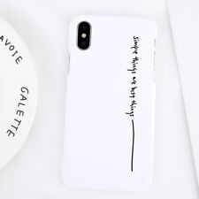 Fashion Simple Slim Matte Hard Back Case Cover For iPhone XS Max XR 7 8 Plus 6 5