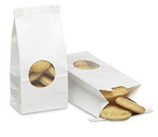 A1 Bakery Supplies Bakery Bags with window 1/2 LB White 25 Pack COMINHKPR151138