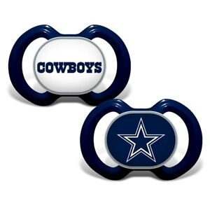 Dallas Cowboys 2 pack Baby Pacifiers