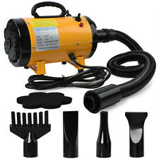 FreePaws 3.2HP 2 Step Adjustable Speed & Heat Pet Grooming Blow Hair Dryer