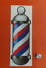 "Barbers traditionnel pole autocollant 8"" shop window sticker miroir autocollant"