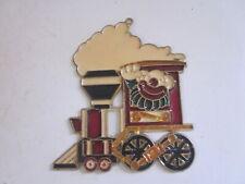 Vintage Stain Glass Style Window Hanger Clown Driving Steam Engine Train