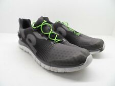 Reebok Men's ZPump Fusion Running Shoes Shark/Gravel/Solar Green/White Size 13M