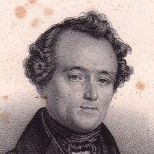 Portrait XIXe Jean-Baptiste Dumas Chimie Pharmacie Alès Gard Chimiste 1833