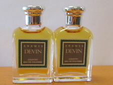 Lot of 2~ Devin Country ~By Aramis Cologne  For Men 0.25 oz EDC Splash Miniature