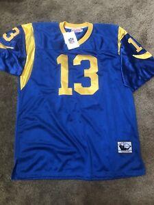 Kurt Warner 13 Rams blue Throwback jersey XXL 56 NWT