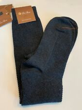 Loro Piana 100% Baby Cashmere Navy Blue Socks Size Medium Made in Italy
