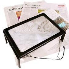 Tisch- und Handarbeitslupe, 3,5 fach Vergrößerung, LED Lampen