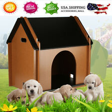 New listing Foldable Ventilate Mdf Dog House Shelter Kennel Cabin Pet Puppy Cage Indoor Us
