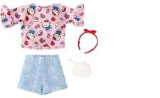 Barbie Doll Hello Kitty Fashion Pack PINK TOP JEAN SHORTS  2018 Sanrio