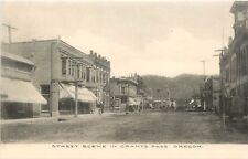 Oregon, Or, Grants Pass, Street Scene Albertype Co Postcard