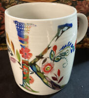"Starla M. Halfmann Anthropologie Letter Initial Monogram ""K"" Mug Cup."