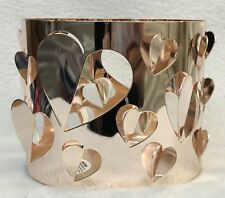 1 Bath Body Works ROSE GOLD CUT-OUT HEARTS Candle Holder 3-Wick 14.5 oz
