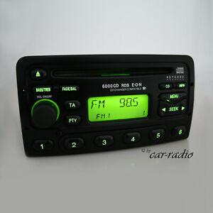 Original Ford 6000CD RDS E-o-N Autorradio 6000NE 6000 CD Radio Negro Cd-R Tuner