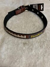 GameWear NFL Pittsburgh Steelers Classic Leather Football Collar Large