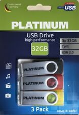 Platinum TWS USB-Stick 32 GB  USB 2.0 3er Pack
