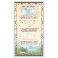"Religious How Great Thou Art Lyrics Cotton Fabric Quilting Treasures 24"" Panel"