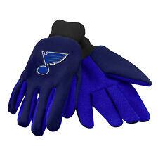 NHL NWT TEAM COLOR NO SLIP PALM UTILITY GLOVES - ST. LOUIS BLUES