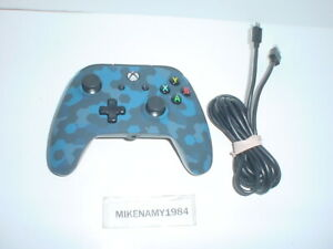 BLUE CAMO WIRED XBOX ONE Wired controller - Tested & Works Great