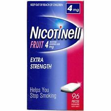 NICOTINELL CHEWING FRUIT GUM 4mg X 96 Pieces (1 Pack)