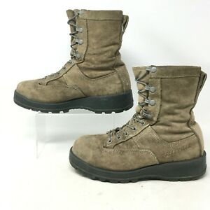 Belleville Military Boot Steel Toe Vibram Gore-Tex Lace Up Suede Brown Mens 6.5W