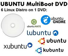 Linux MultiBoot DVD: Ubuntu, Kubuntu, Xubuntu, Lubuntu, Mate & Gnome on 1 DVD