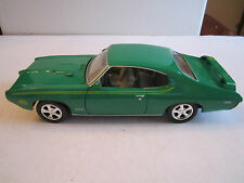 "RED BOX TOY - GREEN 1969 GTO JUDGE DIE CAST CAR - 1:24 - 8 1/4"" - CR"