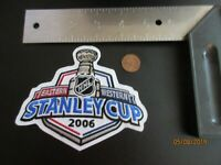 "2006 Stanley Cup 5"" Patch Hockey Carolina Hurricanes Edmonton Oilers"