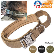 Heavy Duty Tactical Dog Collar for German Shepherd K9 Boxer Large Dogs Training