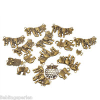 10 Mix Bronze Elefant Charm Anhänger Kettenanhänger Pendant L/P