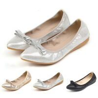 Newly Women Foldable Ballet Flats Cosy Sole Slip On Lady Comfort Shopping Shoes