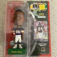 RANDY MOSS VIKINGS HOF U.D. COLLECTIBLES PLAY MAKERS 2001 NFL EDITION BOBBLEHEAD
