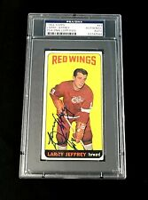 LARRY JEFFREY SIGNED TOPPS 1964 TALL BOYS DETROIT RED WINGS CARD #49 PSA/DNA