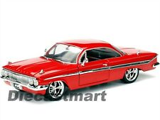 JADA 1:24 FAST AND FURIOUS 8 DOMS 1961 CHEVY IMPALA DIECAST CAR MODEL RED 98426
