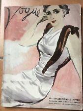 VOGUE octobre 1933 revue VINTAGE collections HIVER 1933 mode haute couture luxe