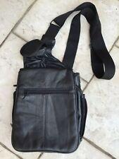 Buxton black leather crossbody purse, multi-pocket