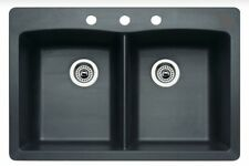 Blanco 442277 Merkur Silgranit Double Bowl Drop-in & Undermount Anthracite