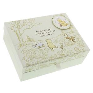 Disney Winnie The Pooh Keepsake Memory Box Boy Girl Newborn Baby Shower Gift