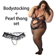 UK Nightwear Fishnet Bodysuit Body Stockings Lingerie Bow Lace Erotic Lot Fun 10-28 Teal Bodystocking Bow48
