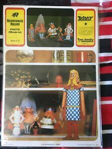rare Astérix assurancetourix (troubadix) découpage de 1973 Dargaud sa paris
