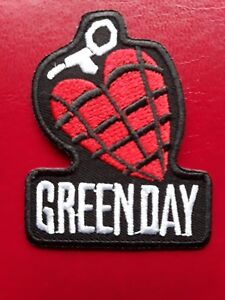 GREEN DAY AMERICAN HEAVY PUNK ROCK GRENADE HEART EMBROIDERED PATCH UK SELLER
