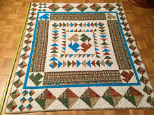 "New ListingHandmade Lap /Throw/Table Top/WallHanging Quilt-reversible 52"" x 60"" T Design"