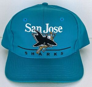 Vintage San Jose Sharks NHL Snapback Hat Cap by Twin Enterprises Great Condition