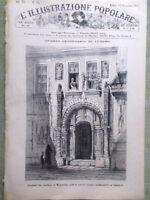 L'illustrazione Popolare 11 Novembre 1883 Centenario Lutero Cervantes Chisciotte