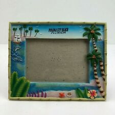 """Panama City Beach Florida Picture Frame With Palm Trees Fits 5 1/8"""" x 3 1/2"""""""