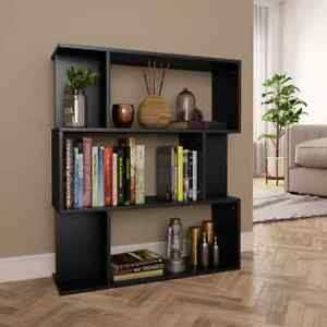 Book Storage Cabinet Room Divider Stand Chipboard Book Shelf Wall Chest Bookcase