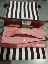 Henri Bendel New York Leather Phone Case Crossbody NWT Dustbag Med Pink