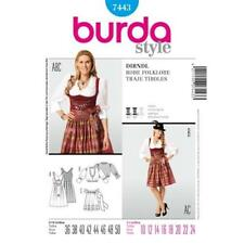 Burda Sewing Pattern 7443 Misses Ladies Dirndl Dress Costume Size 10-24 Uncut