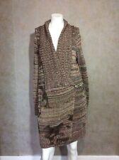 JL ESCADA SPORT LONG SWEATER DRESS CARDIGAN SIZE SMALL