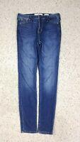 Hollister Women's High Rise Super Skinny Dark Distressed Wash Blue Jeans Size 7R